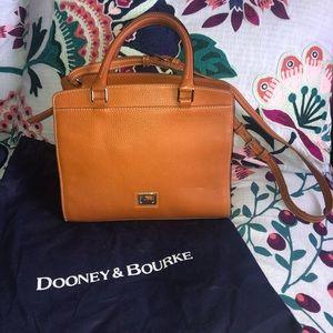 Dooney & Bourke Brown Leather Satchel
